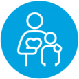 NDE Landing Page Icons_Cyan with white_ParentsCaregivers