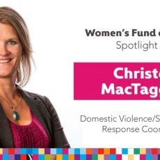 Women's Fund Employee Spotlight: Christon MacTaggart