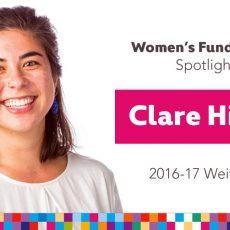 Women's Fund Employee Spotlight: Clare Hiyama